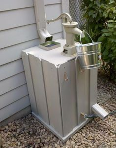I like unique rain barrels. I particularly like ones with taps above as well as below.