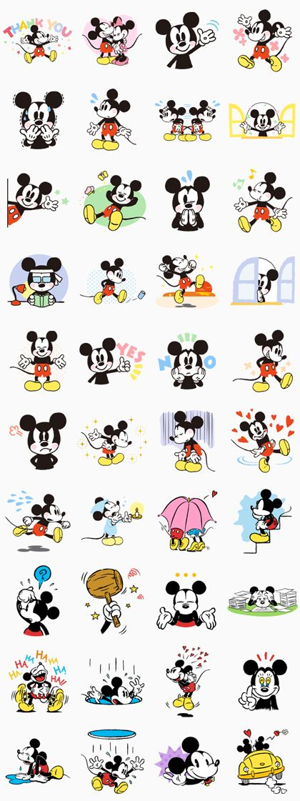 Everyone loves Mickey Mouse, and now he's here on LINE! Whether you're happy or…