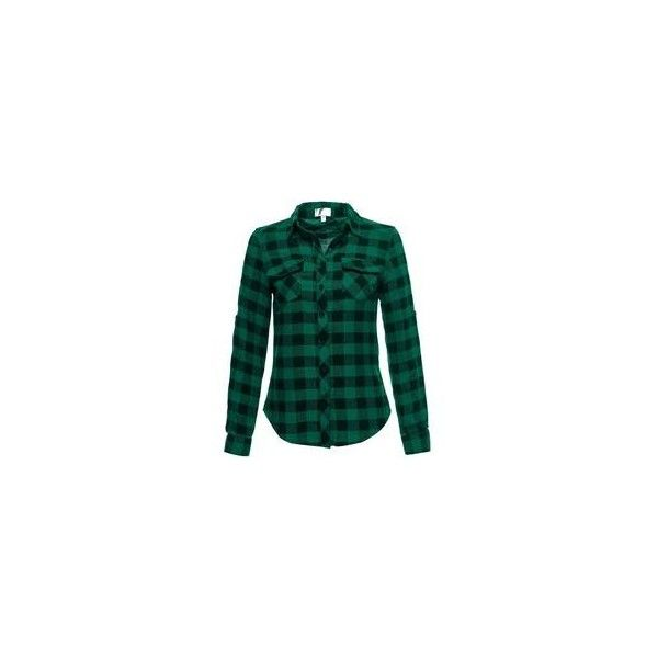 Green flannel shirt ❤ liked on Polyvore featuring tops, shirt top, green shirt, green top, green flannel shirt and flannel top