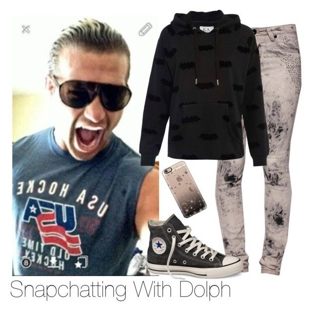 Snapchatting Dolph by amysykes-697 on Polyvore featuring Zoe Karssen, Converse, Casetify and WWE