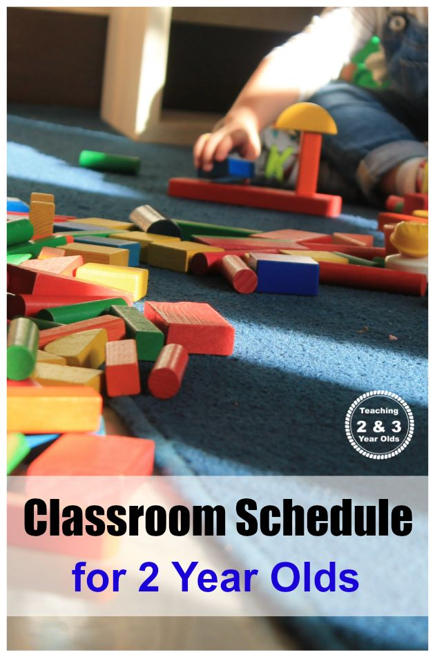 classroom schedule for 2 year olds