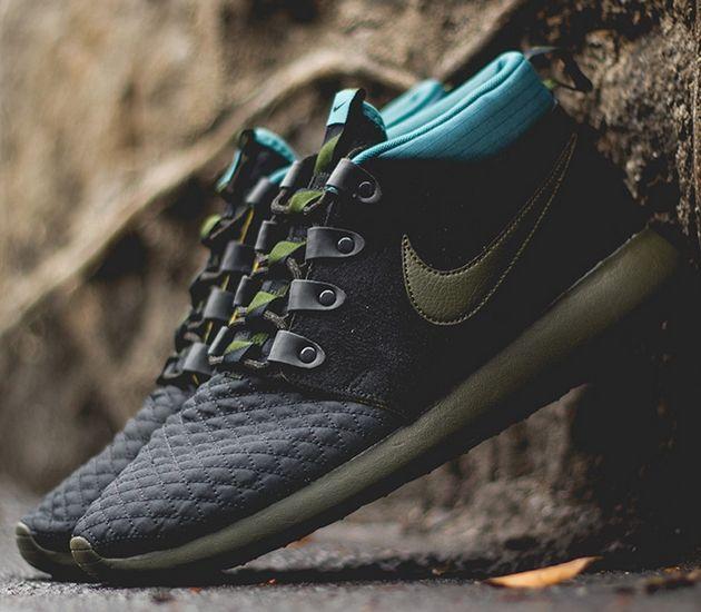 Nike Roshe Run Mid – Dark Loden / Mineral Teal