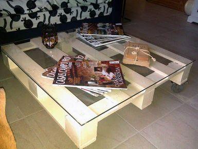mesa de centro de palets - Foto © GMP