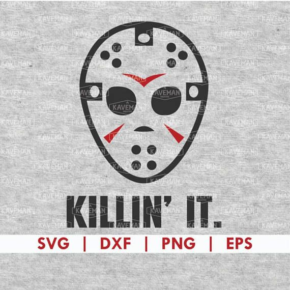 Halloween Friday The 13th Jason Mask Svg Dxf Silhouette Cameo Cricut Halloween Cricut Halloween Friday The 13th