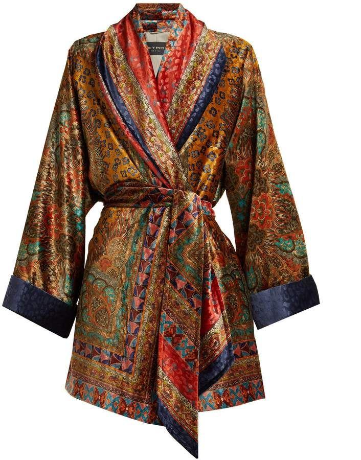 6d4e503cb61 Etro Sunstone printed devoré-velvet jacket
