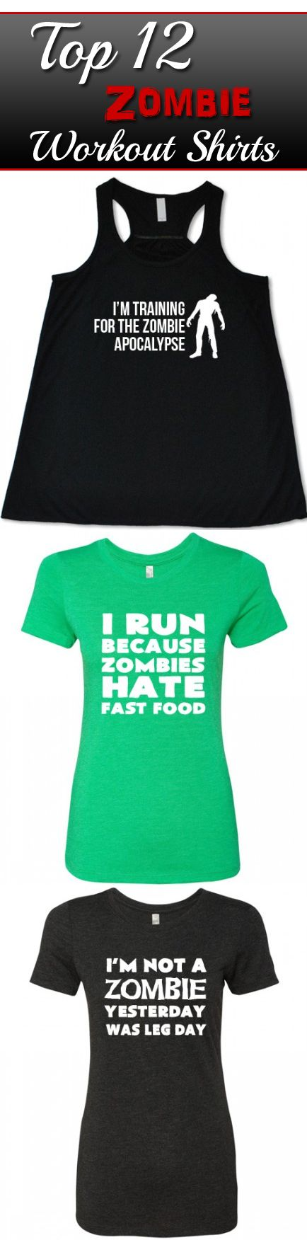 View All The Top 12 Zombie Workout Shirts For Women - Running Shirt - Funny Zombie Running Tank Tops