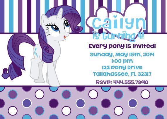 My Little Pony Rarity Inspired Printable Birthday