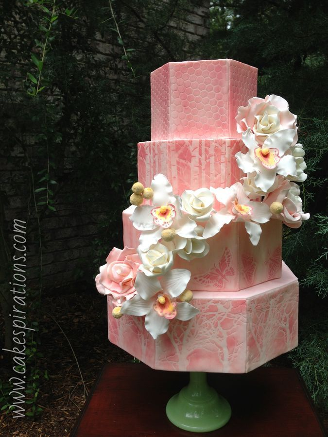 Walk in the woods wedding cake by Chef Jennifer Friedmann out of Cakespirations NC