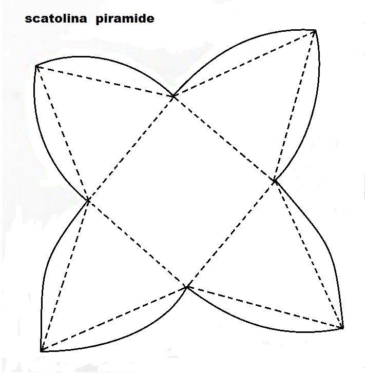 SCATOLINA PIRAMIDE PER BOMBONIERA -