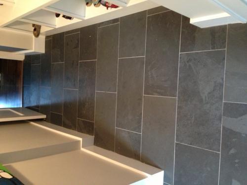 Home Depot Slate Montauk Black 12 X 24 Guaged Slate Floor Wall Tile