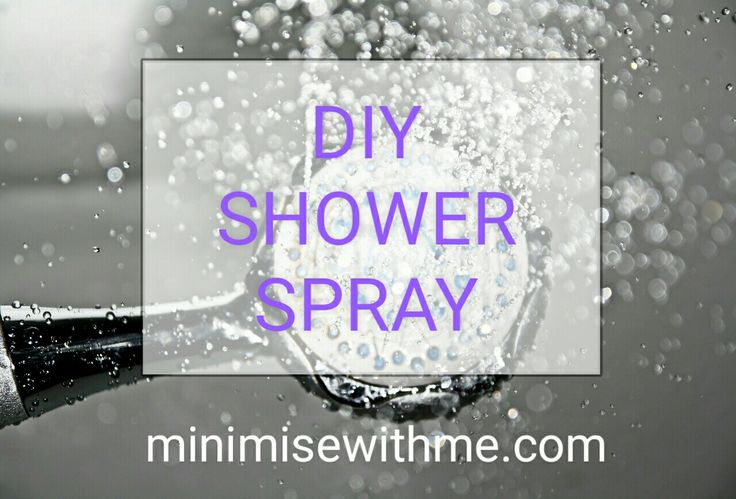 Just whipped up another batch of our shower spray home-made cleaner. A spray bottle filled with half water and half vinegar. I spray it on throughout the week on our shower tiles and screen to help stop mould and soap scum and make cleaning our shower much easier.