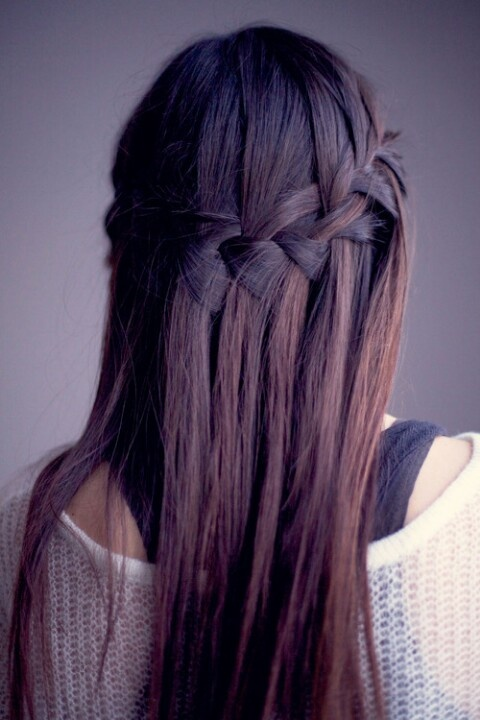 Waterfall braid! Want.