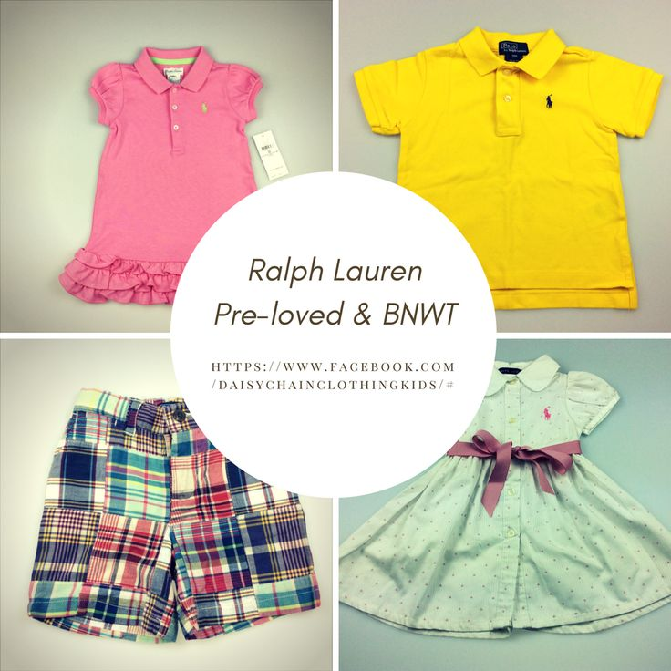 Ralph Lauren children's clothing -  pre-loved and brand new with tags. Daisy Chain Clothing provides parents with a convenient & affordable way to buy pre-loved and new children's clothing. Our pre-loved clothes have all been carefully hand-picked by us, so you can have confidence in the quality of any items you purchase.