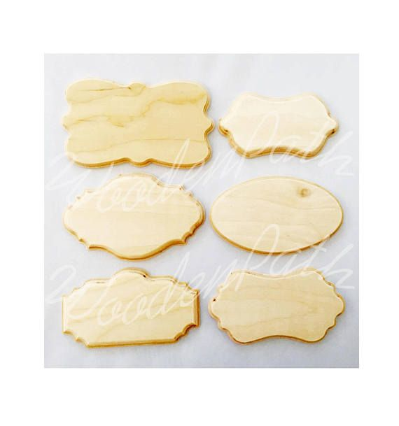 Unfinished Beveled Carved Edge Plywood Plaques Plain Plaques