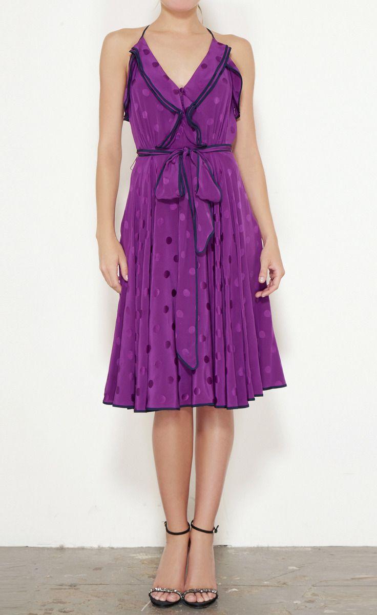 Derek Lam Purple And Black Dress
