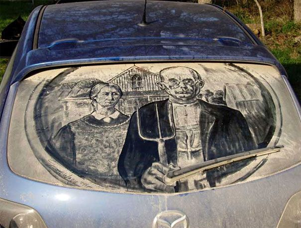 Best Art Dirty Car Images On Pinterest Cars Car And Art Styles - Scott wade makes wonderful art dusty car windows