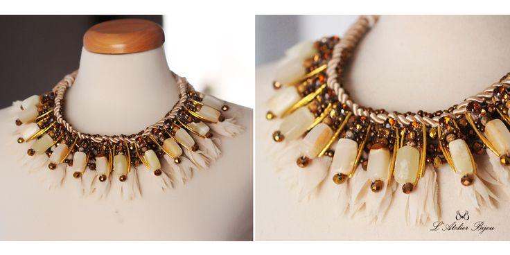Jade stone necklace #custom #design #jewelry #statement
