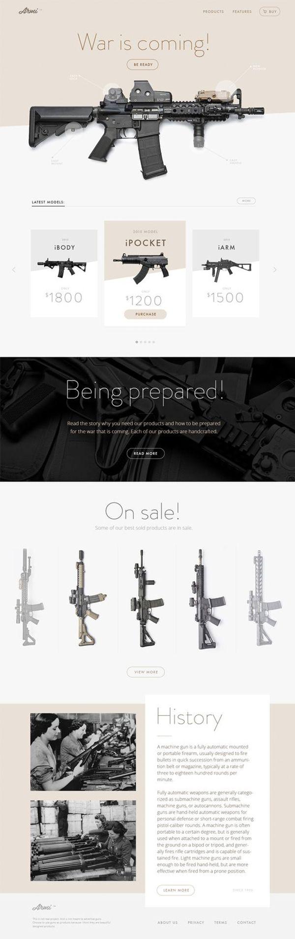 War Is Coming | Landing Page Design Inspiration