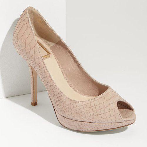 Christian Dior Python Peep-Toe Pumps footaction BQJSgRexo