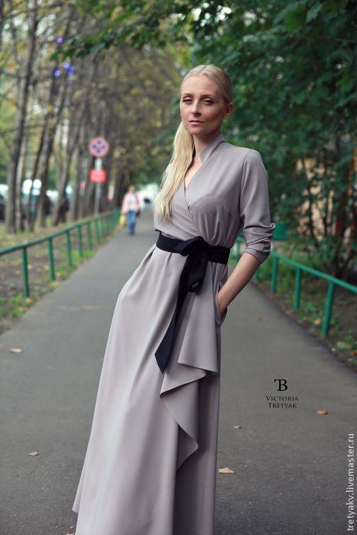 Купить Платье в пол/платье длинное/платье/скидка на остатки! - серый, платье, платье в пол, платье коктейльное