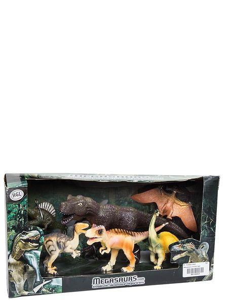 Kuuden hirmuliskon Megasaurs-dinosaurukset -leikkisetti innostaa huikeisiin dinoleikkeihin! Pakkaus sisältää 6 erilaista 15-30 cm:n pituista dinosaurushahmoa. Ikäsuositus 3+