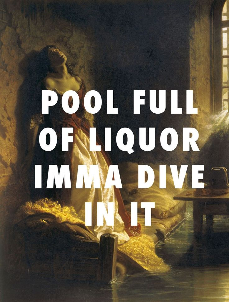 flyartproductions:  Princess Tarakanova, in a swimming pool (drank) Princess Tarakanova, in the Peter and Paul Fortress at the Time of the Flood (1864), Konstantin Flavitsky / Swimming Pools (Drank), Kendrick Lamar