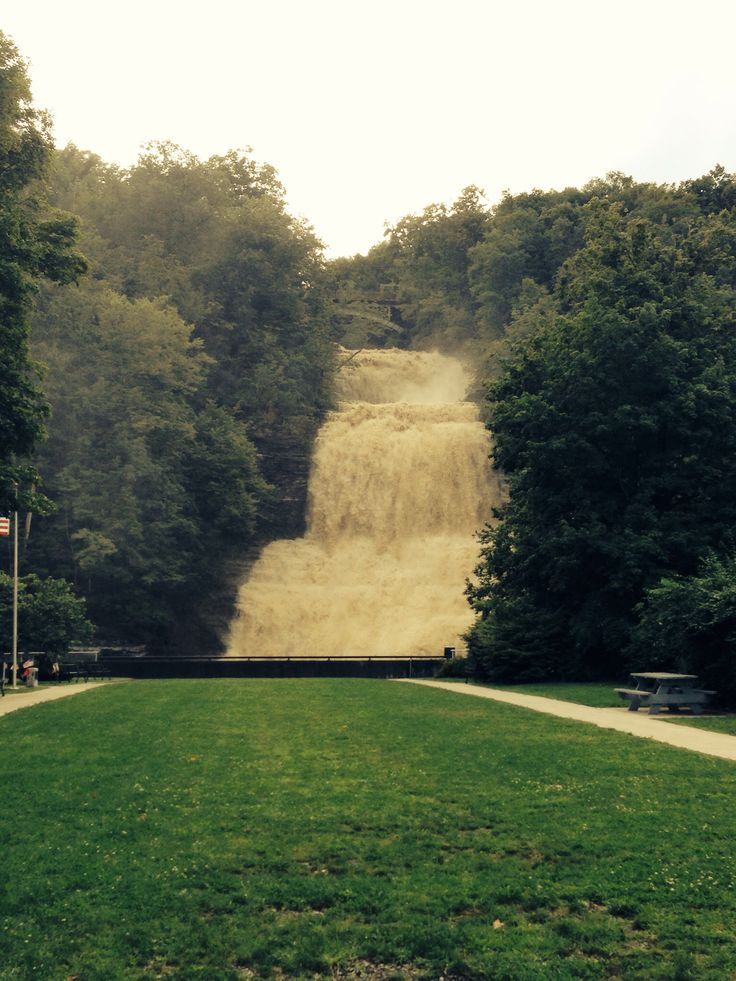 Montour falls, NY. Falls in the middle of this small town