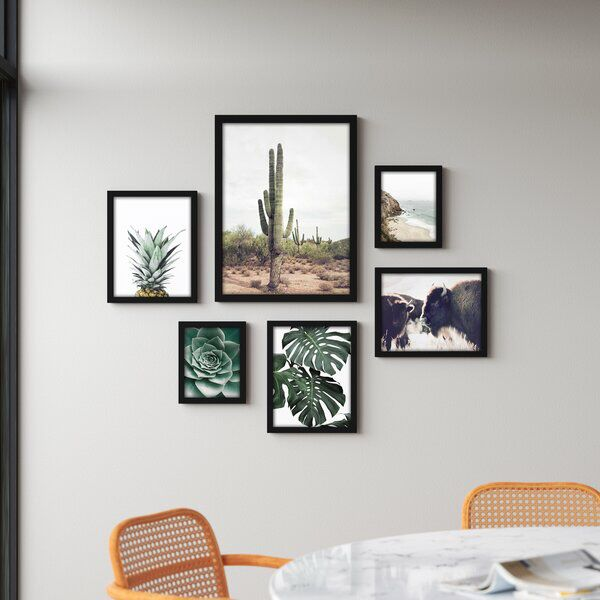 Southwest 6 Piece Framed Graphic Art Print Set Frame Wall Collage Small Gallery Wall Gallery Wall Layout
