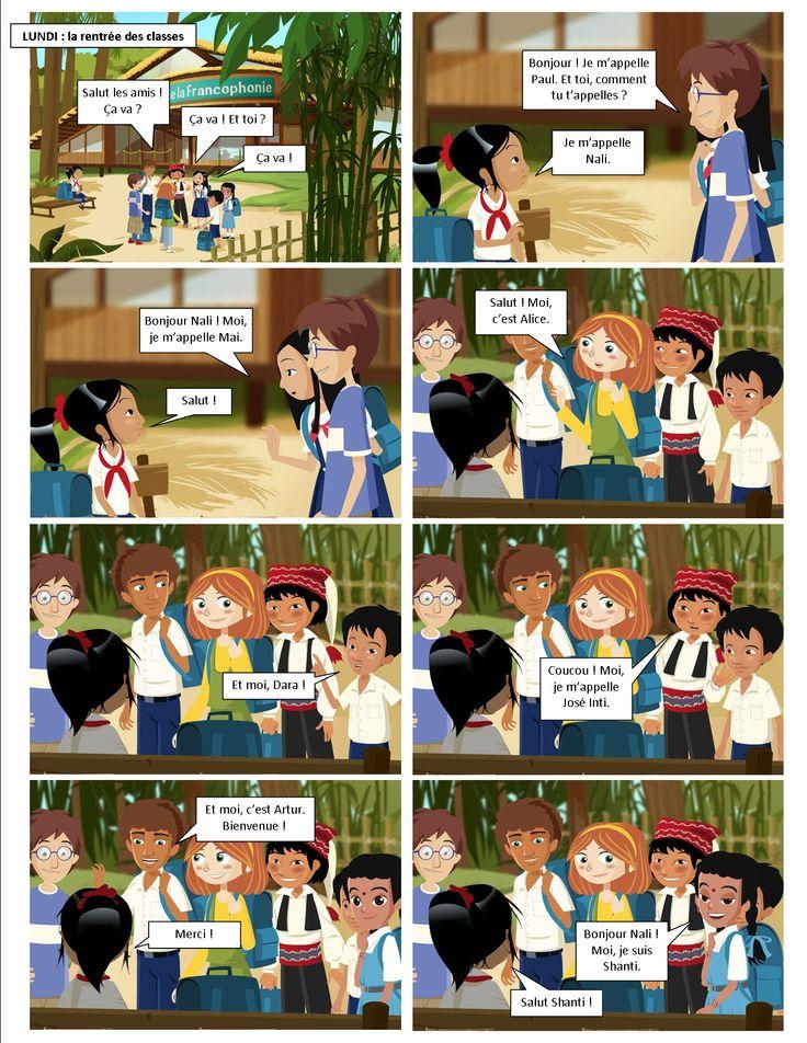 """""""A l'école de la francophonie"""". Ce site a été spécialement conçu pour héberger une méthode de français langue étrangère innovante destinée aux enfants de 8 à 12 ans et à leurs professeurs de français et/ou parents. Cette méthode sous forme de dessin animé interactif saura faire le bonheur de tous. N'hésitez plus pour l'essayer !"""