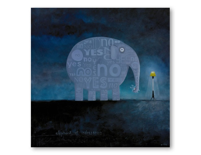 Elephant of Indecision by Tony Cribb