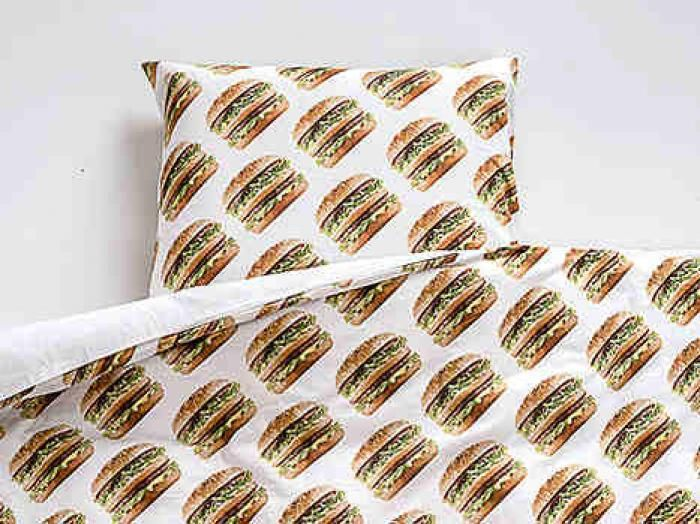 The Big Mac pillow case and sheet.