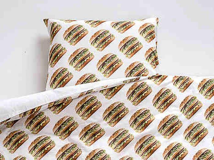 The Big Mac pillow case and sheet.