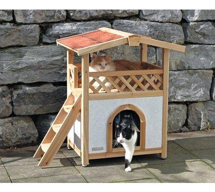 Protégez votre chat même lorsqu'il est dans votre #jardin ... optez pour cette #maison pour #chat façon Tyrol Alpin !  http://www.animaleco.com/catalogue/chat/couchage-chat/maison-chat/maisonnette-chat-tyrol-alpin-93x55x76cm