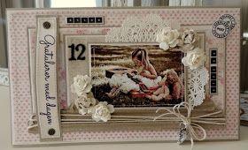 min lille scrappe-verden: Bursdagskort til jente