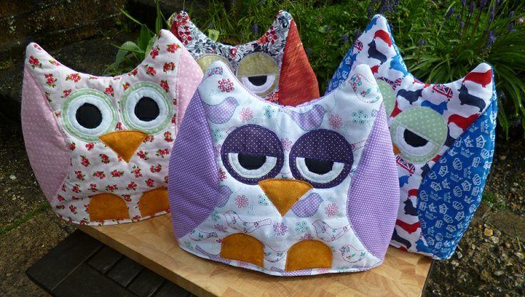 A Parliament of Owl Tea cosies :)