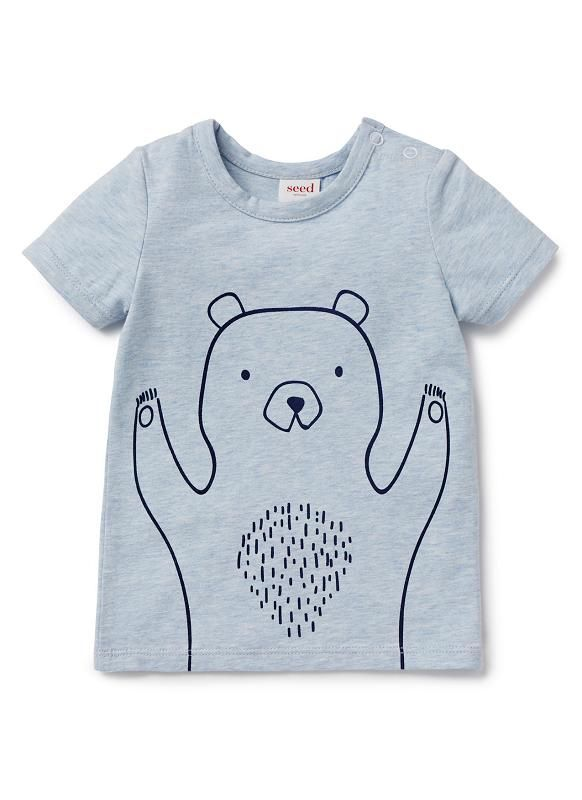 Baby Clothes Tops & Tees Newborn Clothes Tops & Tees | Outline Ss Tee | Seed Heritage