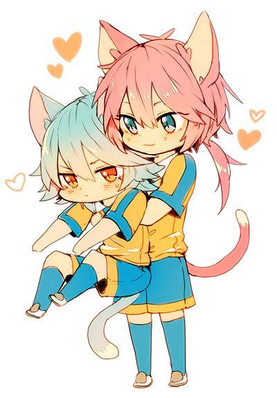 #anime #inazumaelevengo #kirino #ranmaru #kirinoranmaru #kariya #masaki #kariyamasaki ##ranmasa #blush #ashamed #shame #girl #boy #soccer #kirinoxkariya #masaran #raimon #cat #neko #gato #cosplay