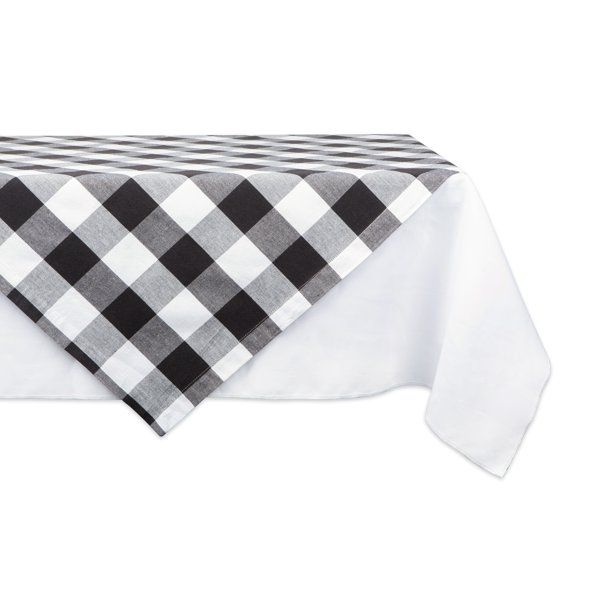 40 White And Black Buffalo Checkered Square Tablecloth Walmart Com White Table Cover Table Toppers Table Cloth