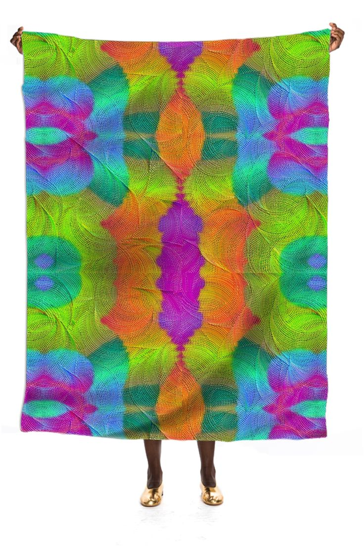 Silk scarf  in colorful  symphoni from Print All Over Me