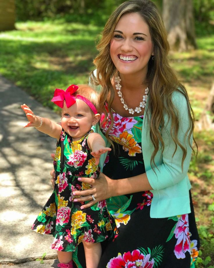 When your baby girl is finally big enough to wear matching dresses!!!  I don't want her to grow up this fast, but it's so fun to get to do girly things with her! ☺️ Yesterday was amazing getting to celebrating the special women in my life and holding both my babies close.  #latergram #godisgood #myminime #babygirl
