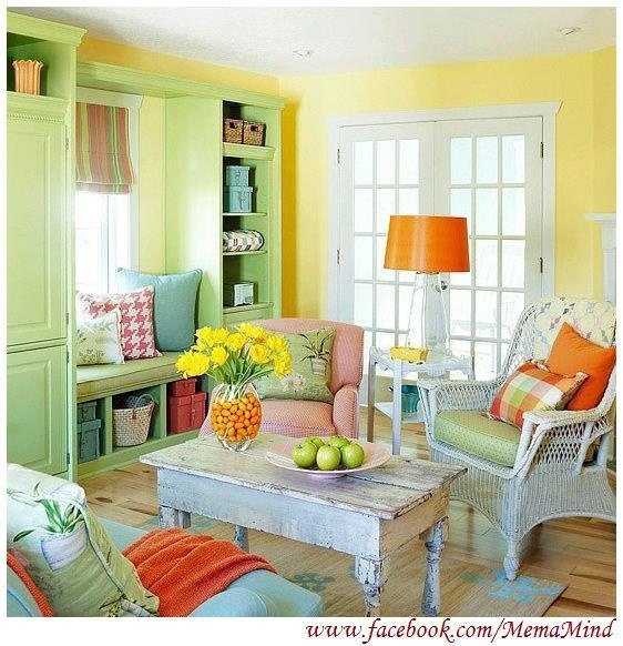 BrightShabby Chic Living Room