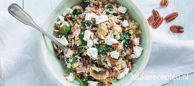Krijg een extra portie groenten binnen door rijst te vervangen door bloemkool en geniet van dit heerlijke gerechtje