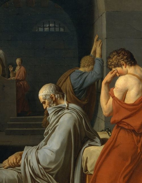 "The Death of Socrates"" (detail), 1787, Jacques-Louis David."
