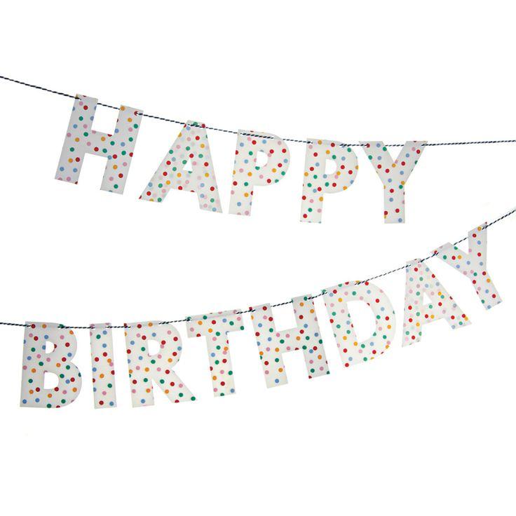die besten 25 happy birthday girlande ideen auf pinterest nye diy birthday card und party. Black Bedroom Furniture Sets. Home Design Ideas