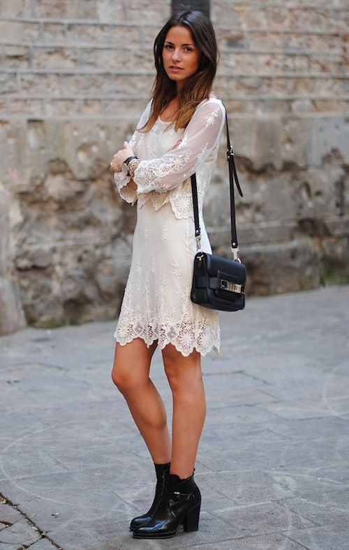 White Lace Dress Engagement Party Idea Rehearsal Dinner Pinterest Fashion Dresses And
