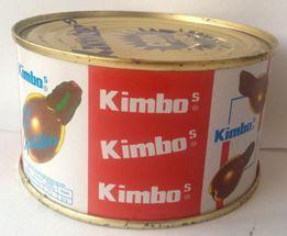 KIMBOS Lata 370 Gr. Aceitunas rellenas con Pepino.  Caja de 24 unidades.