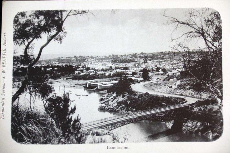 Tasmanian town of Launceston undated postcard
