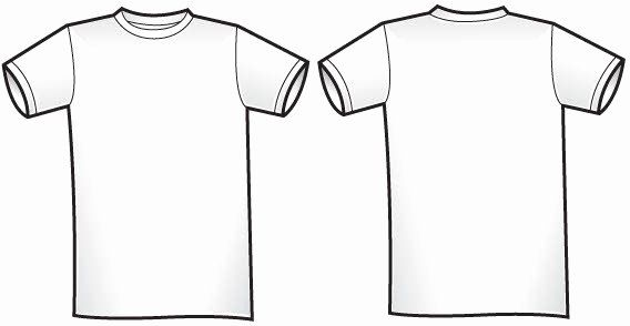 Download Free T Shirt Template Unique Free Of Twosided T Shirt Template Free Vector T Shirt Sewing Pattern T Shirt Design Template Shirt Template