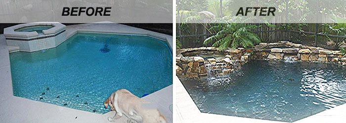 Swimming Pool Renovations: Before and After | pool area ...