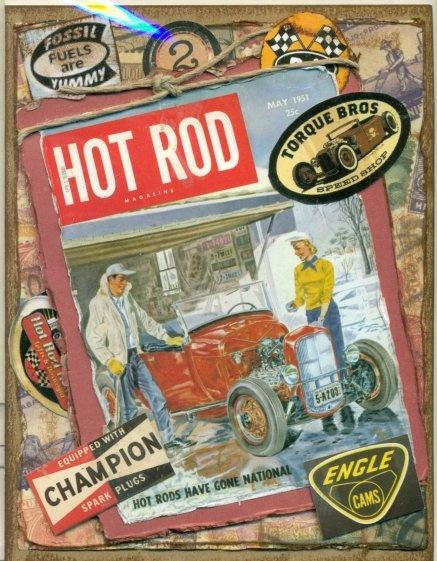 Hot Rod Magazine Greeting Card #2